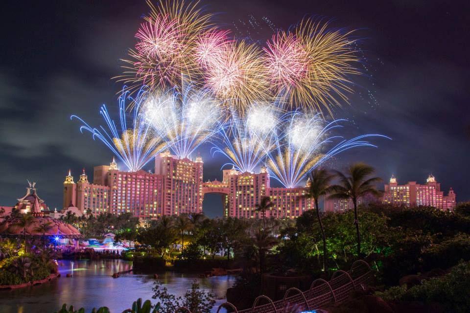 Fireworks over Atlantis Bahamas